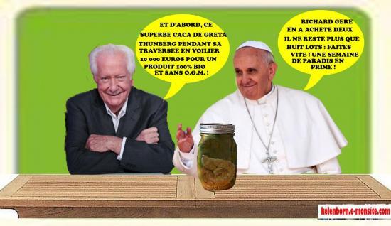 Bellemsalledepresse pape vide grenier caca