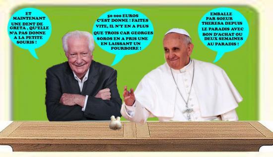 Bellemsalledepresse pape vide grenier dent