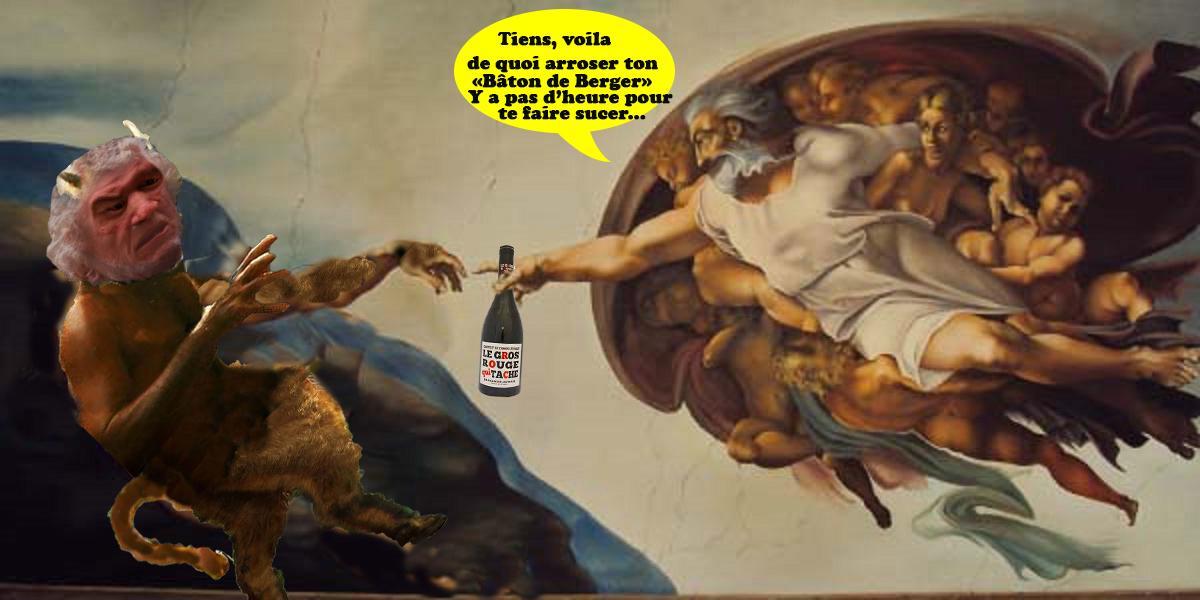 Fresque la creation d adam michel ange triso tx