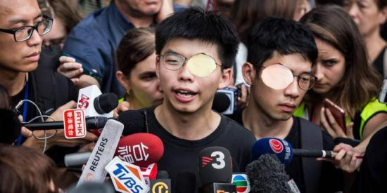 Joshua wong libere demande le depart de la cheffe de lexecutif hongkongais eborgnes
