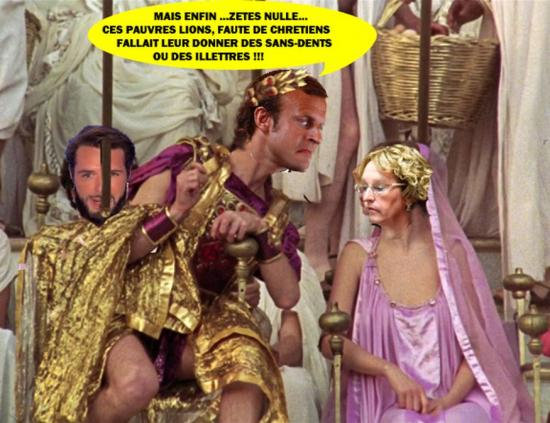 Macroncaligula throne malcolm mcdowell copy